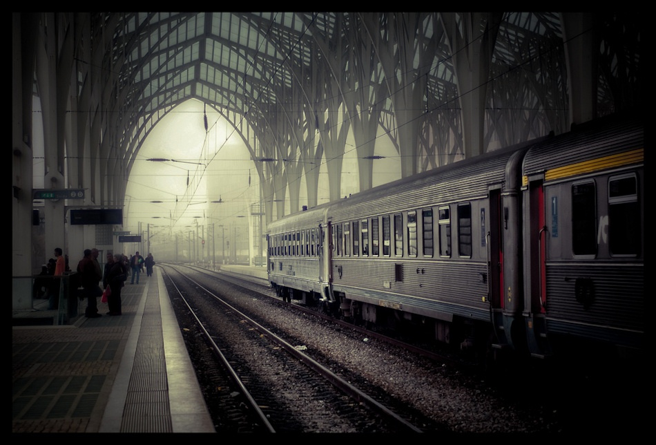 A piece of fine art art photography titled Mystical Station by Jsome1