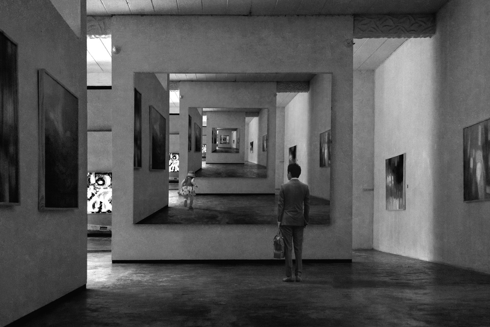 A piece of fine art art photography titled Someone Lost In the Gallery by Ekkachai Khemkum