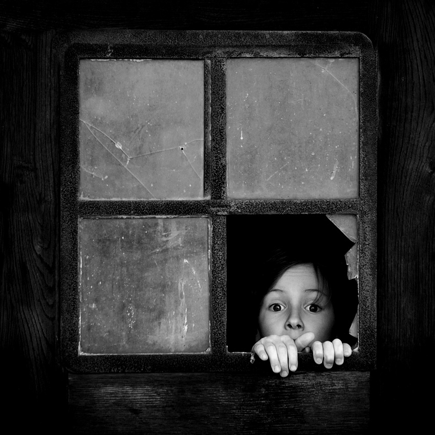 A piece of fine art art photography titled The Window Imp by Sebastian Luczywo