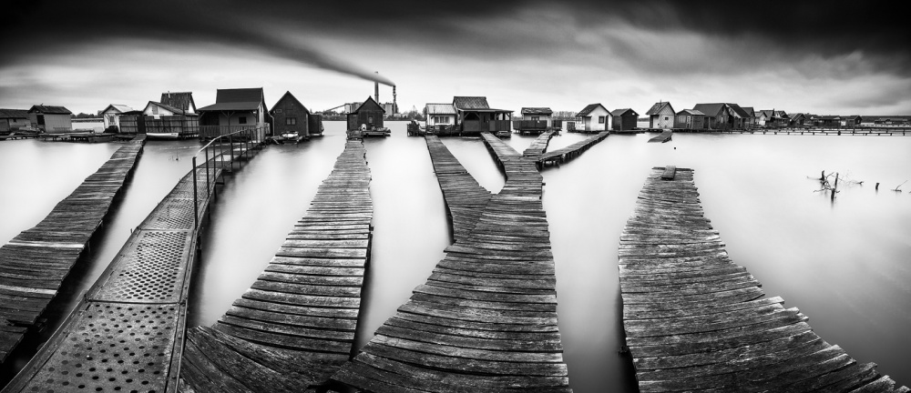 A piece of fine art art photography titled Panorama of Bokod I by roblfc1892 roberto pavic
