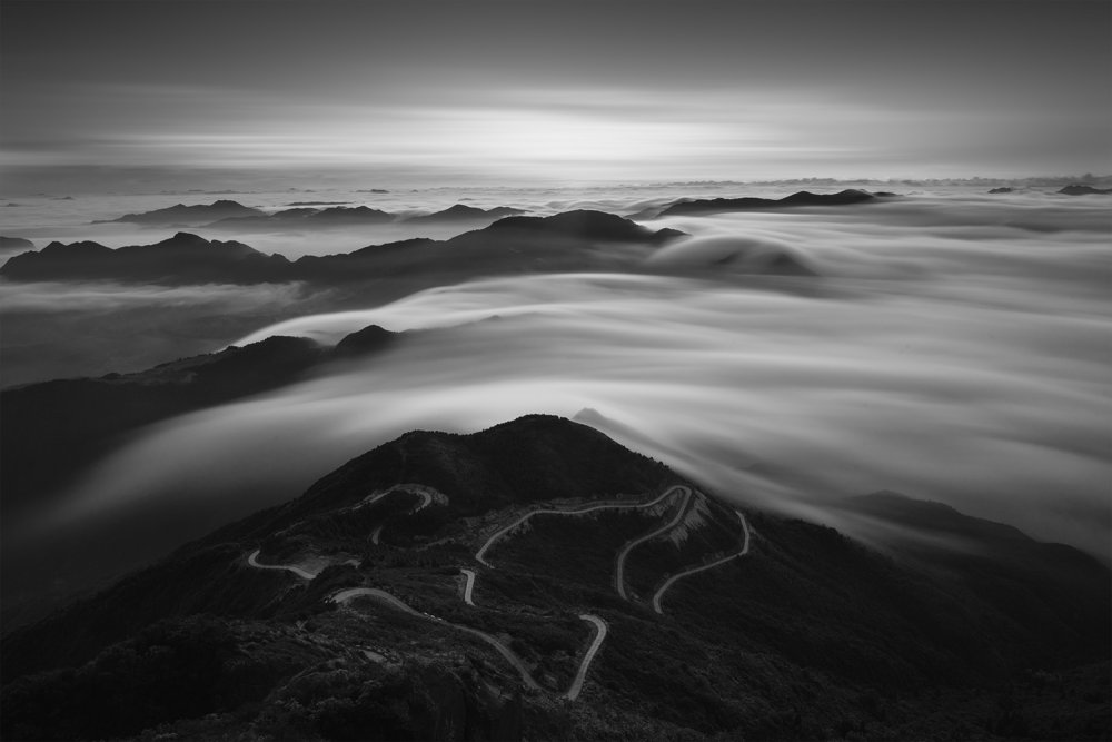 A piece of fine art art photography titled Rhyme of the Mountain by Feng Zhou