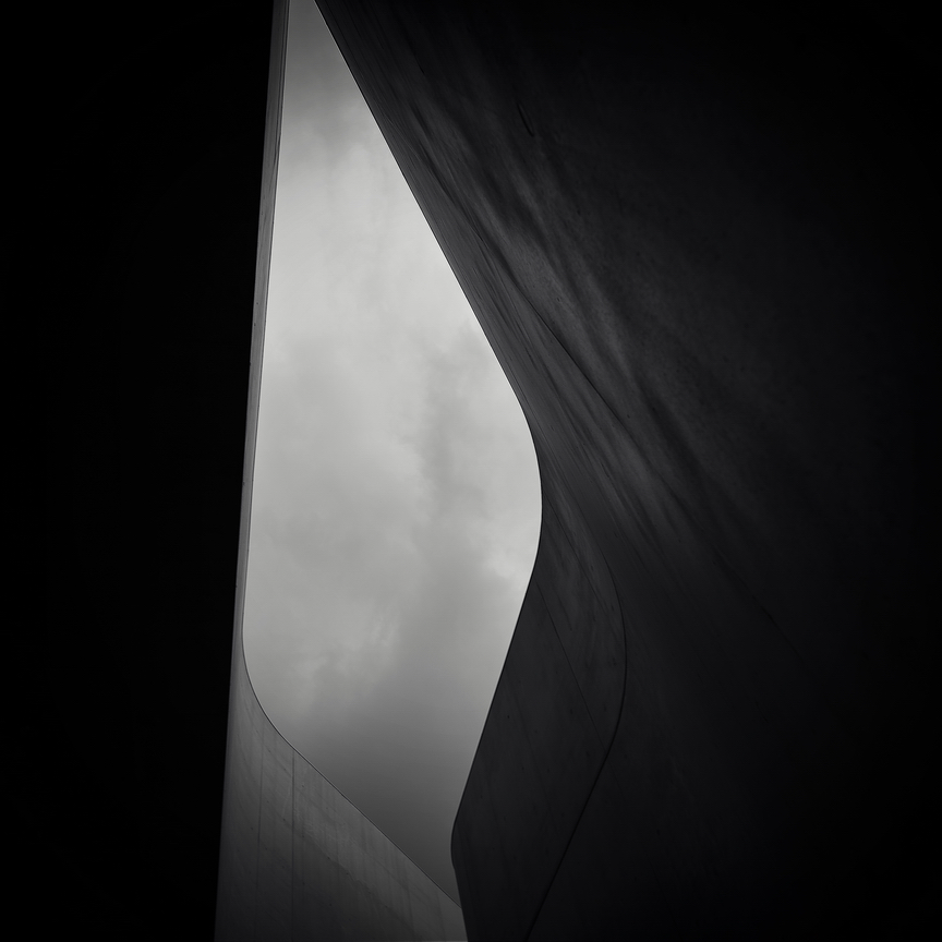 A piece of fine art art photography titled Sharp Curves by alexandru crisan