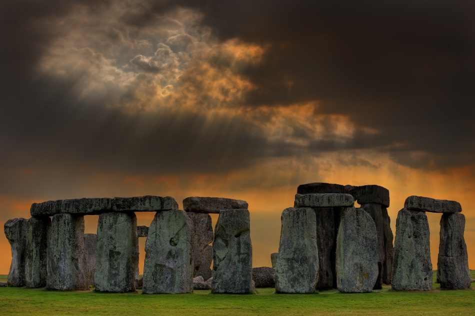 A piece of fine art art photography titled Within a Place of a Stone Circle by David Scarbrough