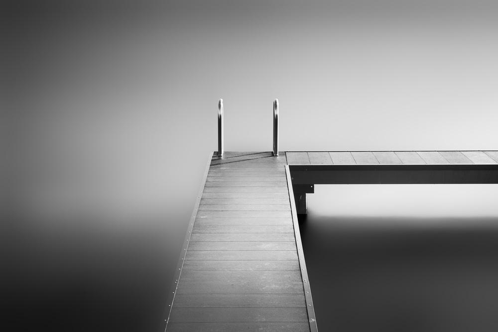 A piece of fine art art photography titled Study of a Bathing Jetty II by Frank Peters