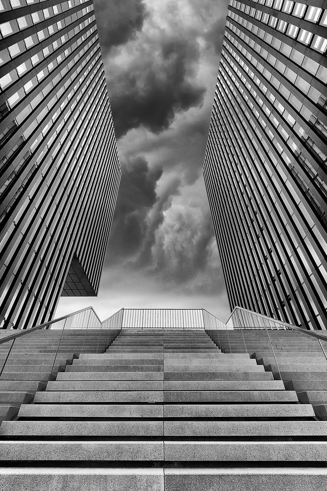 A piece of fine art art photography titled Steps by Rainer Mueller