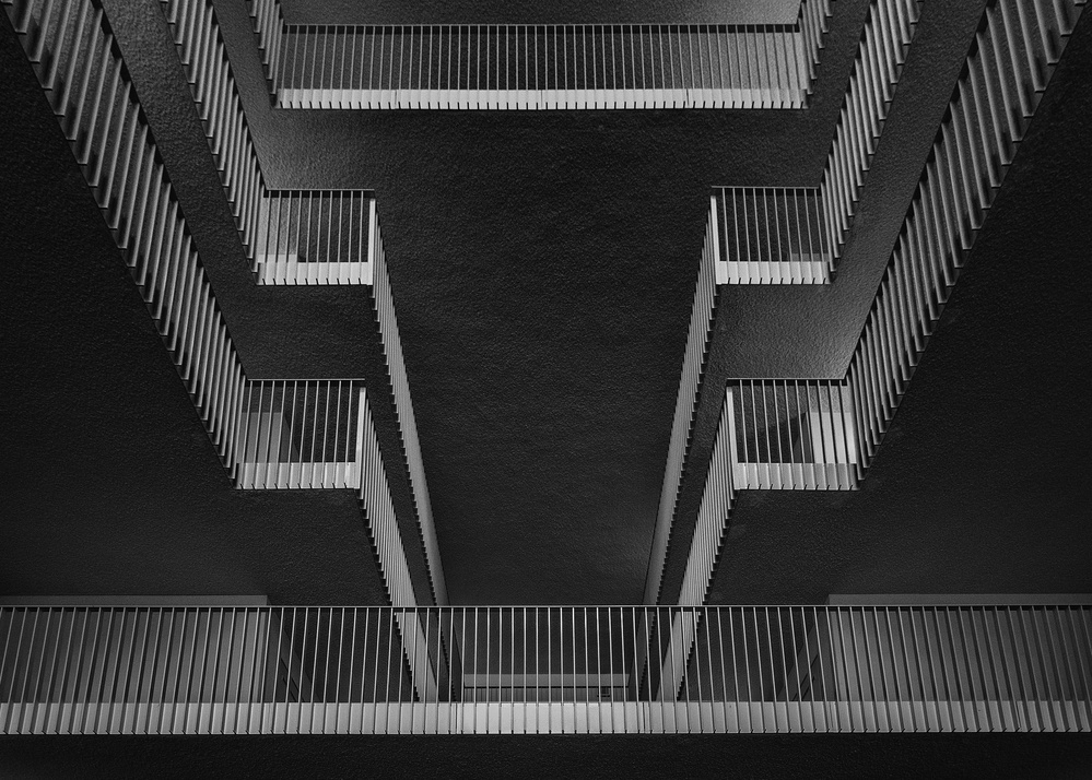 A piece of fine art art photography titled Looking Upstairs by Theo Luycx