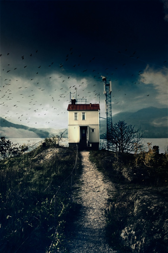 A piece of fine art art photography titled The House On the Hill by Micael