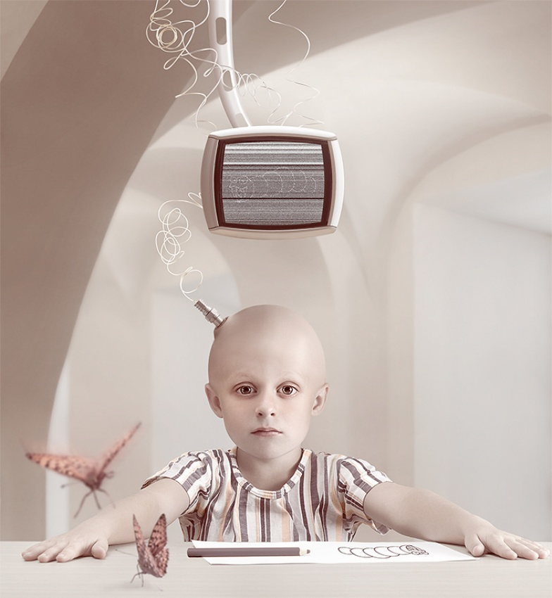 A piece of fine art art photography titled Television by Lidziya Puchkova