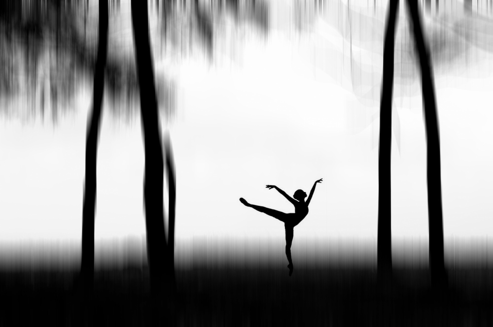 A piece of fine art art photography titled Dancing by Bocah Bocor