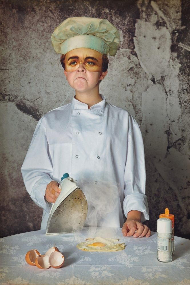 A piece of fine art art photography titled The Cook by Monika Vanhercke
