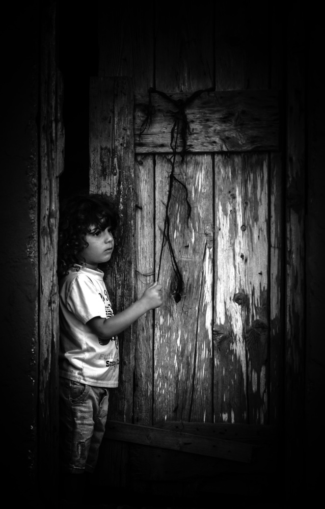 A piece of fine art art photography titled Reef Kid by Rabia Basha
