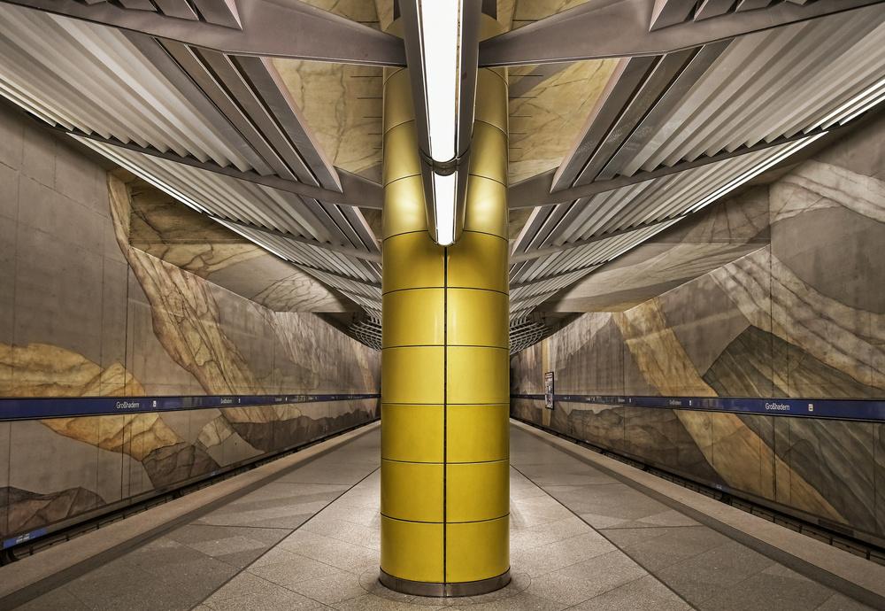 A piece of fine art art photography titled Subway Munich by Renate Reichert