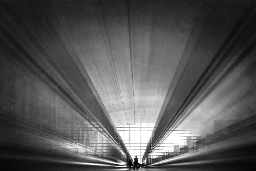 A piece of fine art art photography titled Silent Speed In the City by Ekkachai Khemkum