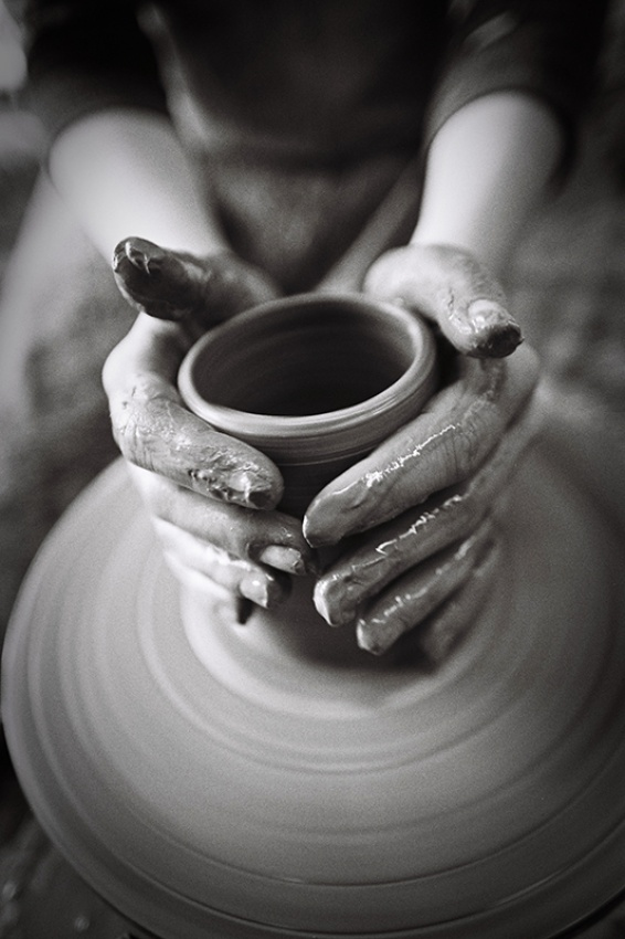 A piece of fine art art photography titled Hands by Niki Dinov