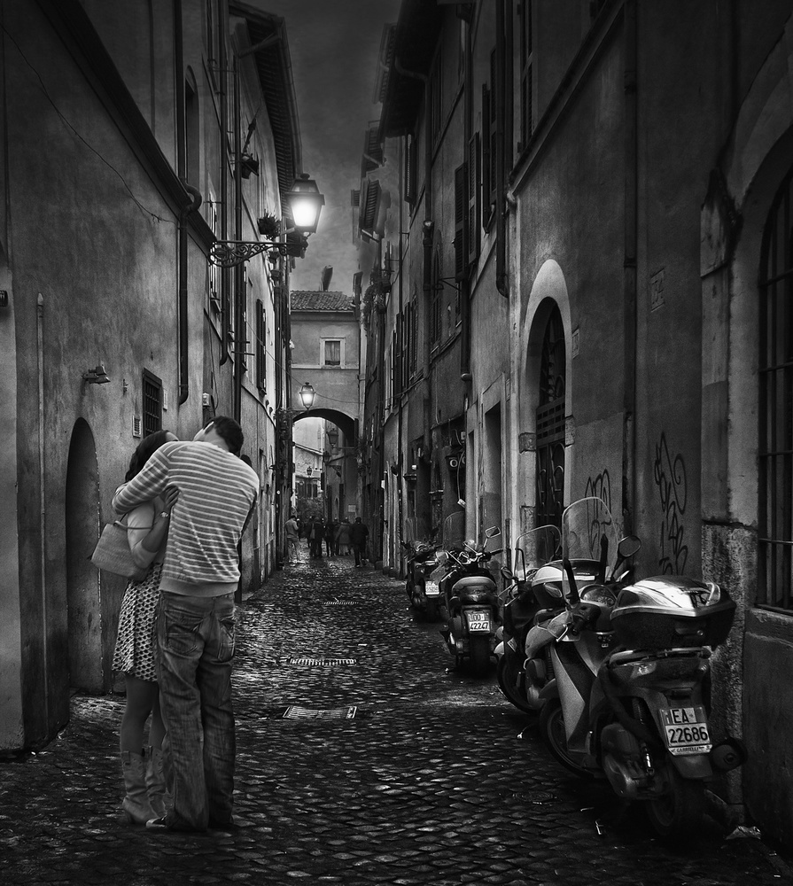 A piece of fine art art photography titled Love In Rome by Jose C. Lobato