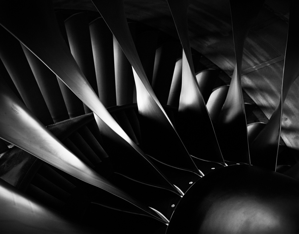 A piece of fine art art photography titled Jet Engine Fan One by Joe Loudermilk
