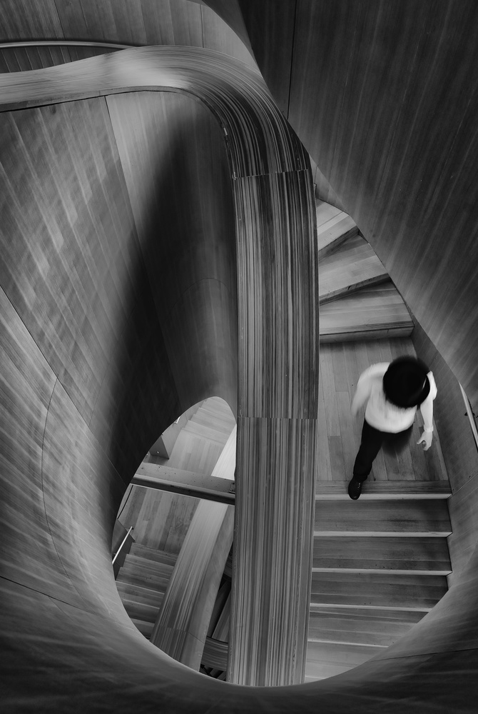 A piece of fine art art photography titled Stairs by Andreas Bauer