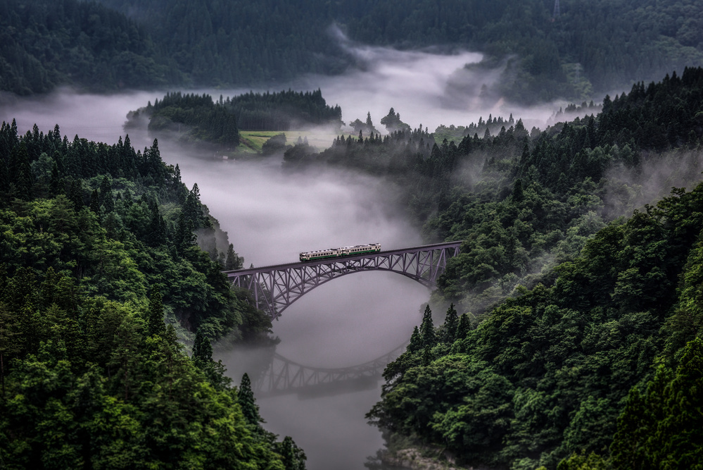 A piece of fine art art photography titled Tadami Line by Teruo Araya