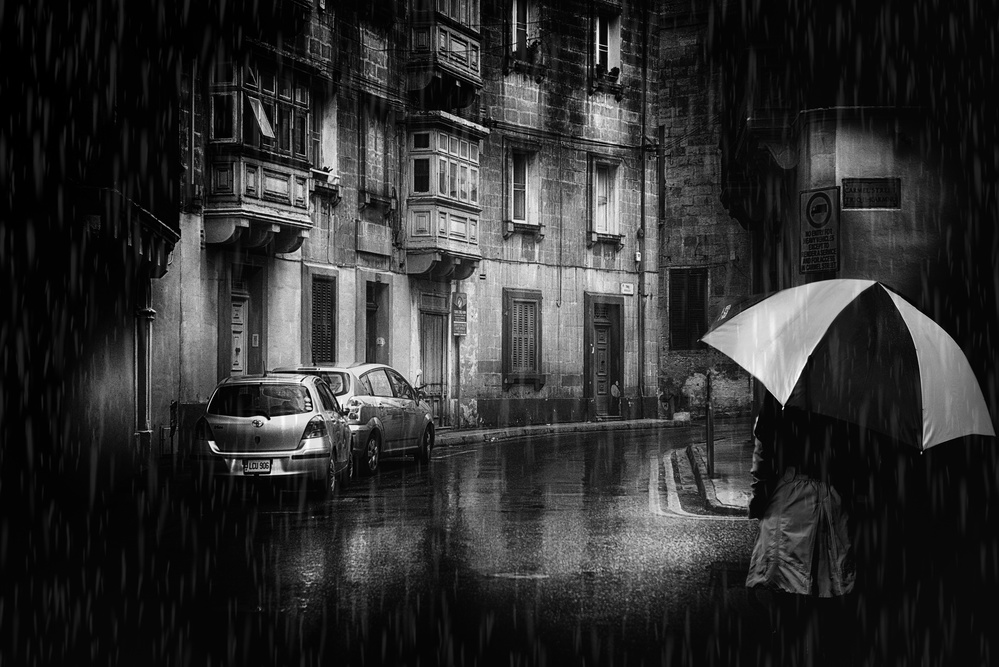 A piece of fine art art photography titled And the Rain Washes All Traces by Vladimir Konkin