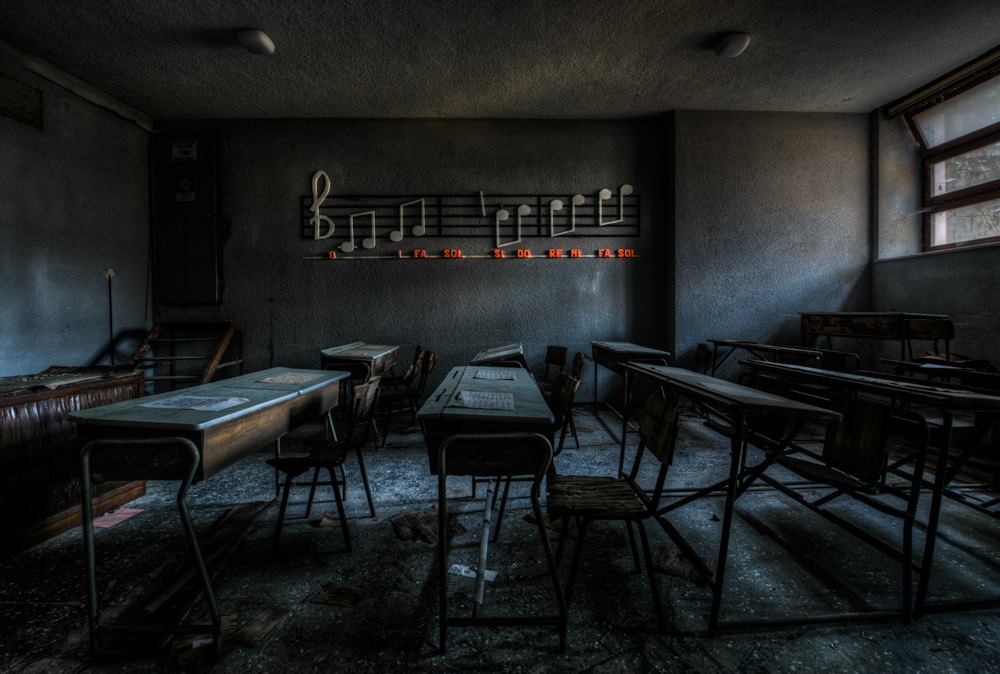 A piece of fine art art photography titled The Classroom by Matteo Musetti