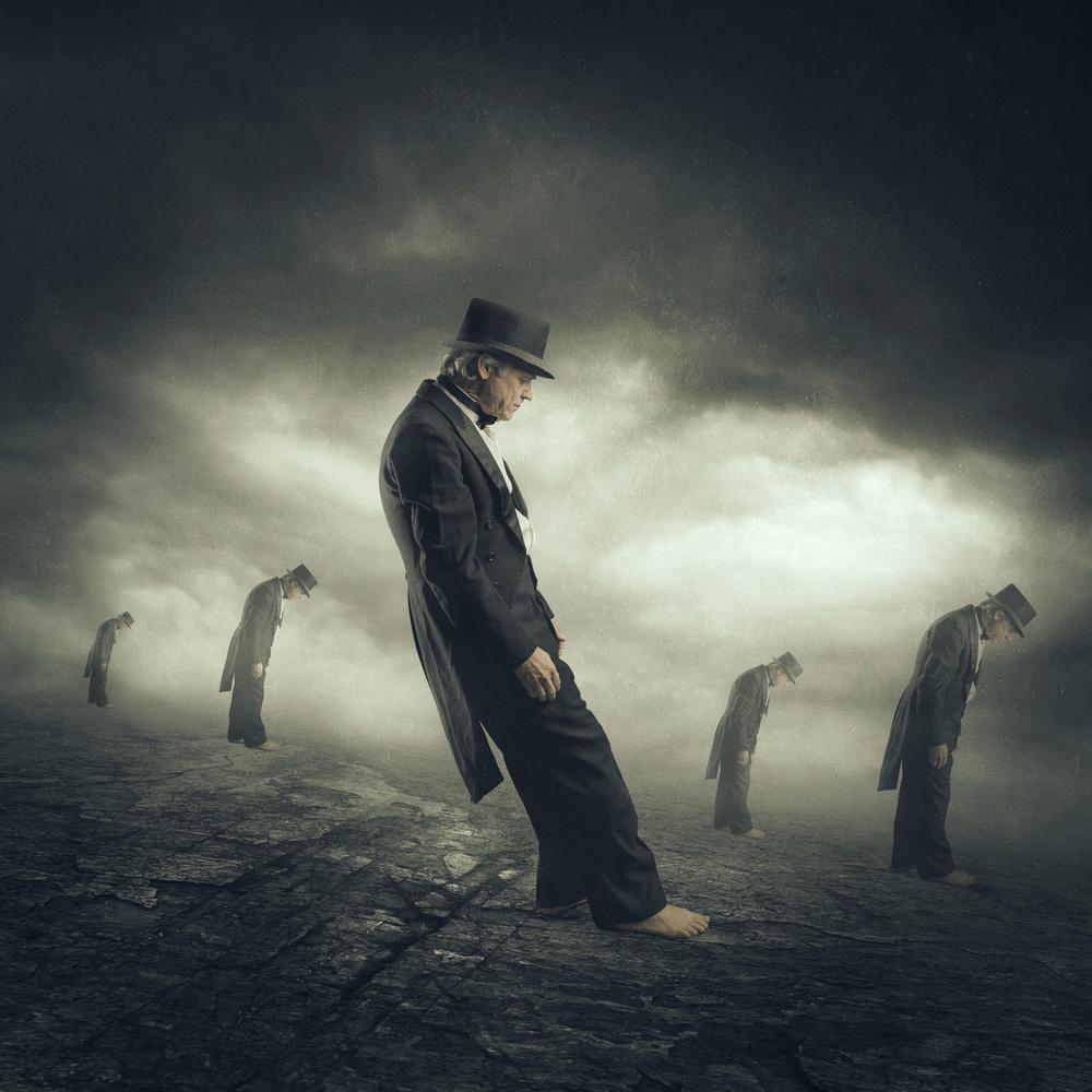 A piece of fine art art photography titled The Contrarian by Michael Bilotta