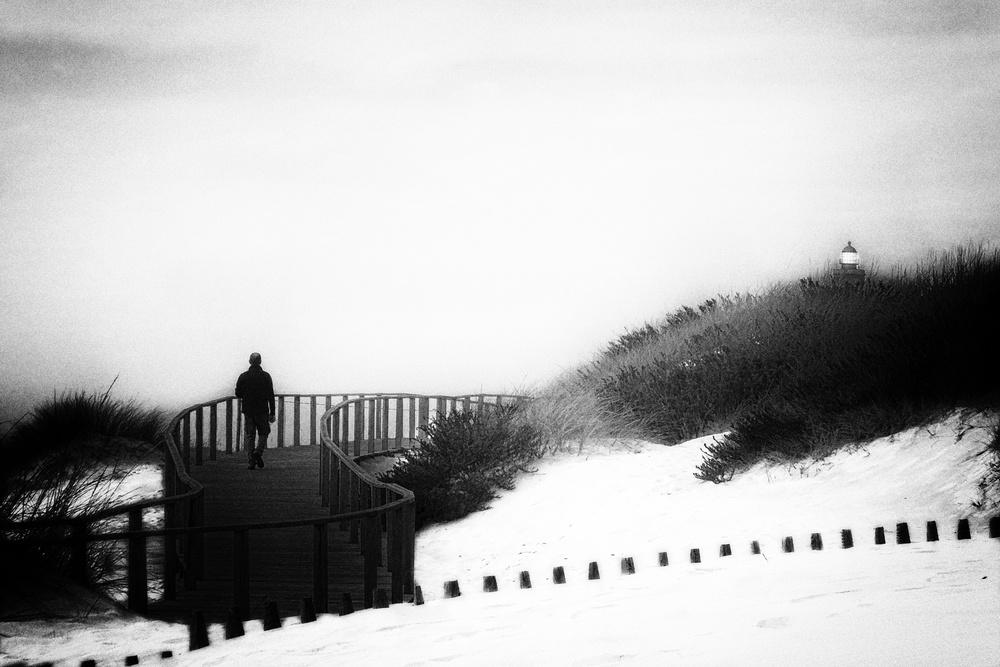 Long lonely walker