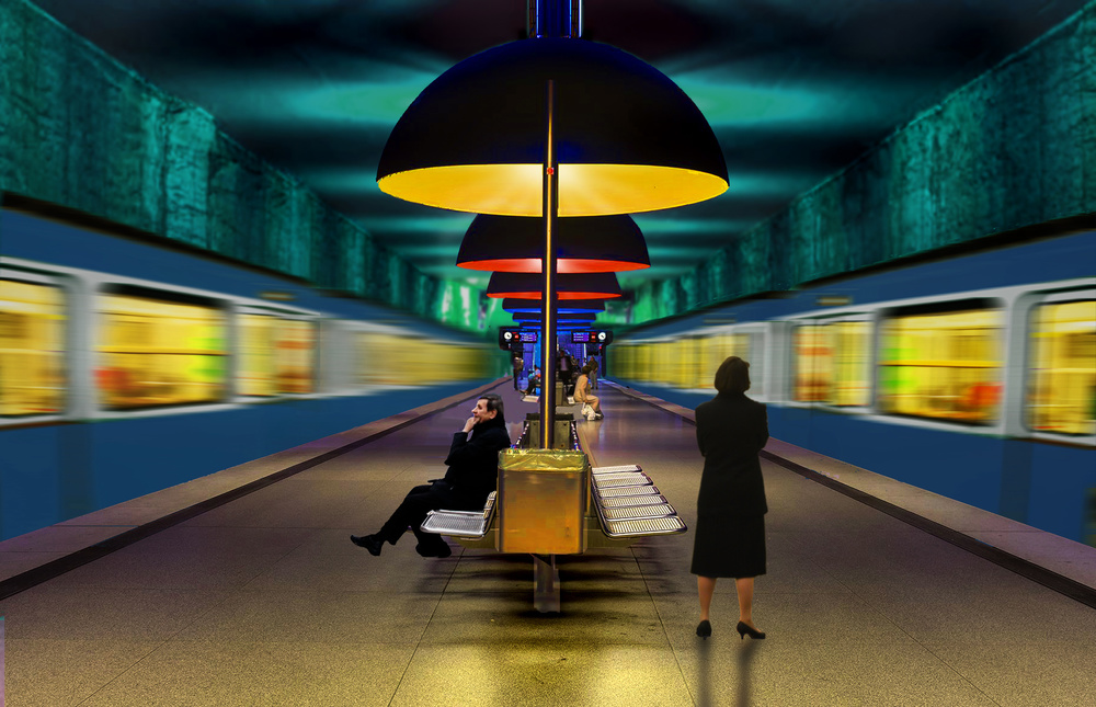 View this piece of fine art photography titled U-Bahn by Massimo Alloi