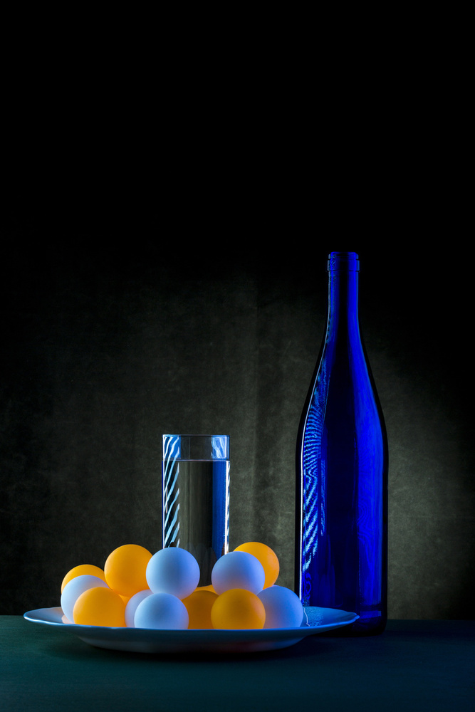 View this piece of fine art photography titled Still life with blue bottle by Brig Barkow