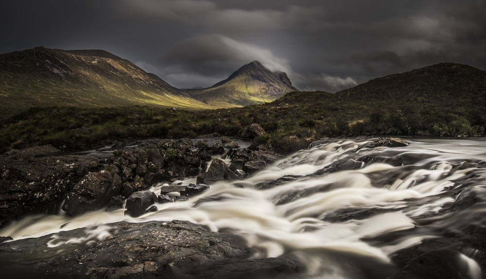 A piece of fine art art photography titled Sligachan by Claes Thorberntsson