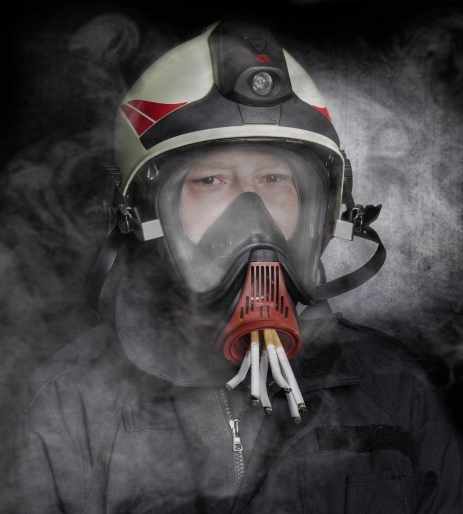 A piece of fine art art photography titled SmokeDiver by Kent Mathiesen