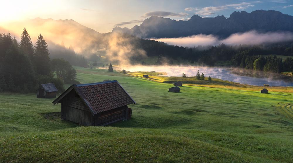 A piece of fine art art photography titled Morning Refreshing by Zbyszek Nowak
