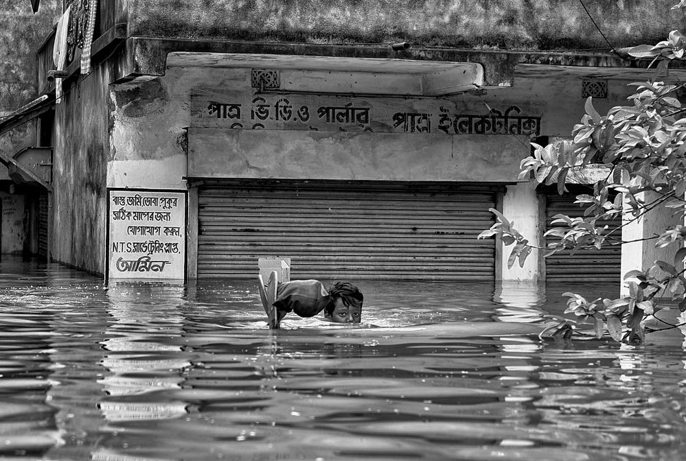 A piece of fine art art photography titled Submerged by Avishek Das