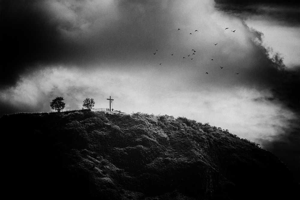 A piece of fine art art photography titled Solsbury Hill by Jacob Tuinenga