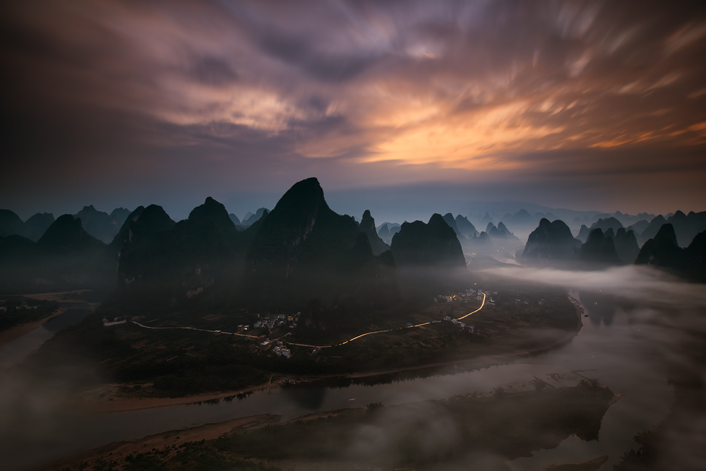 A piece of fine art art photography titled Land of the Gods by Gunarto Song