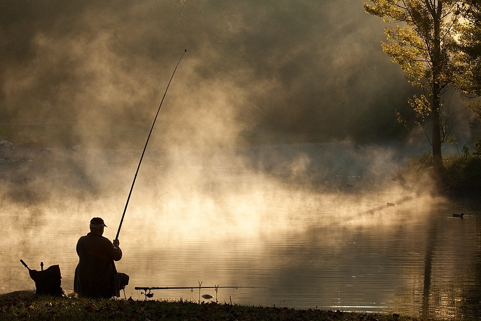 A piece of fine art art photography titled Morning On the Lagoon by Robert Adamec