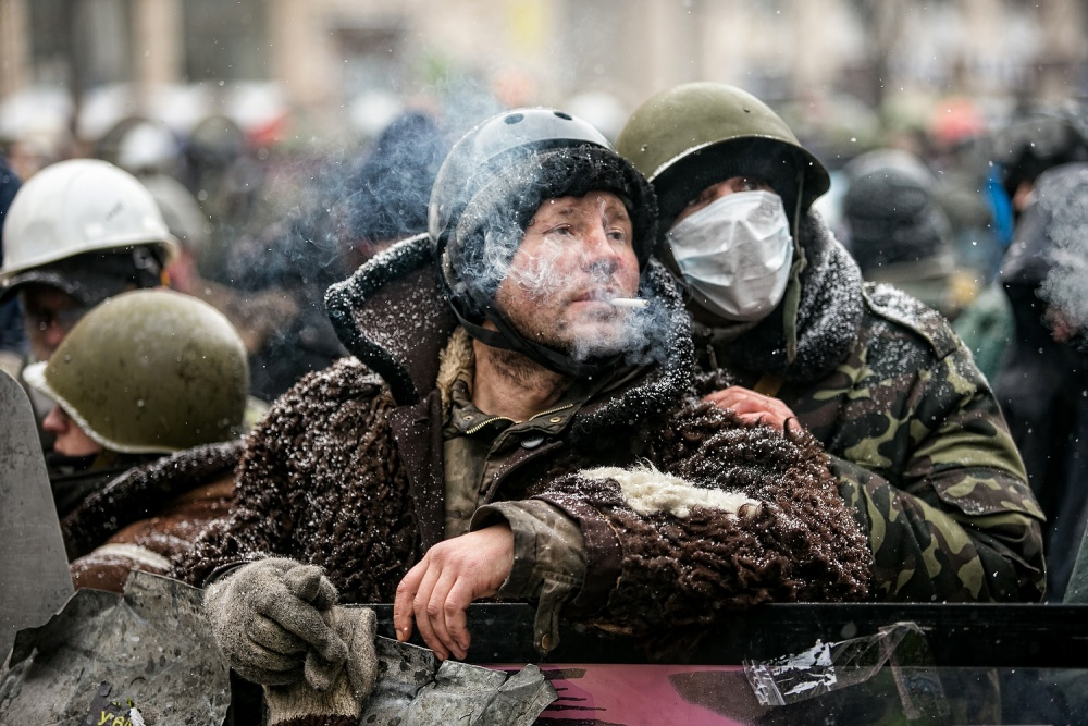 A piece of fine art art photography titled Maidan/Kiev/revolution by Dmytro Sobokar