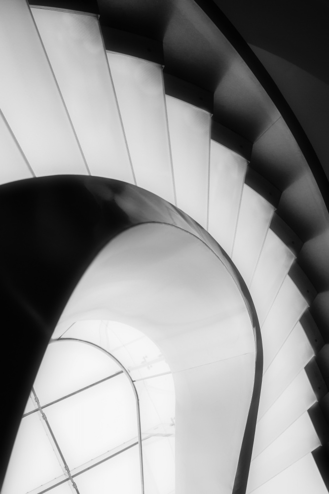 A piece of fine art art photography titled Curved and Straight Lines by Olavo Azevedo