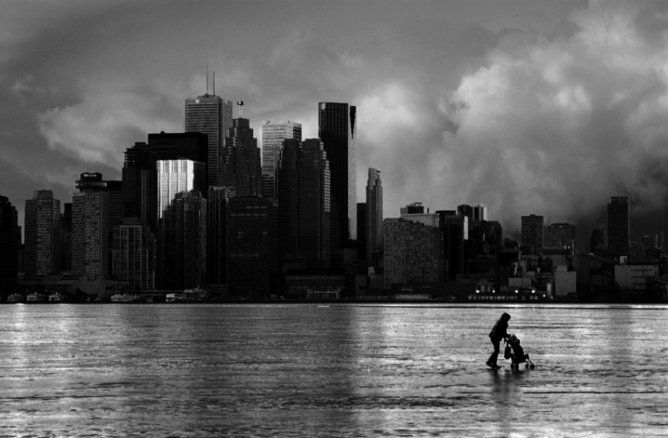 A piece of fine art art photography titled An Ordinary Day In Toronto by Incunabula