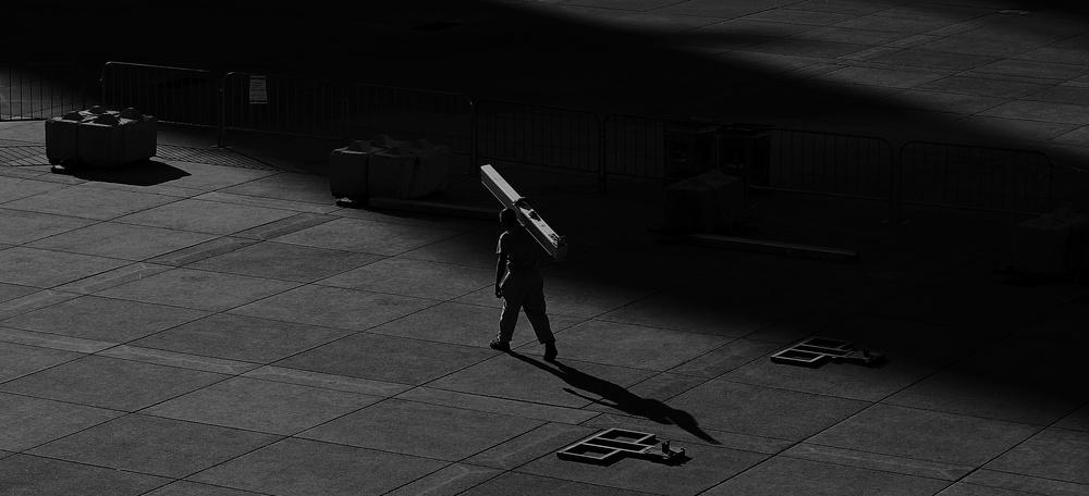 A piece of fine art art photography titled Burdened by Jian Wang