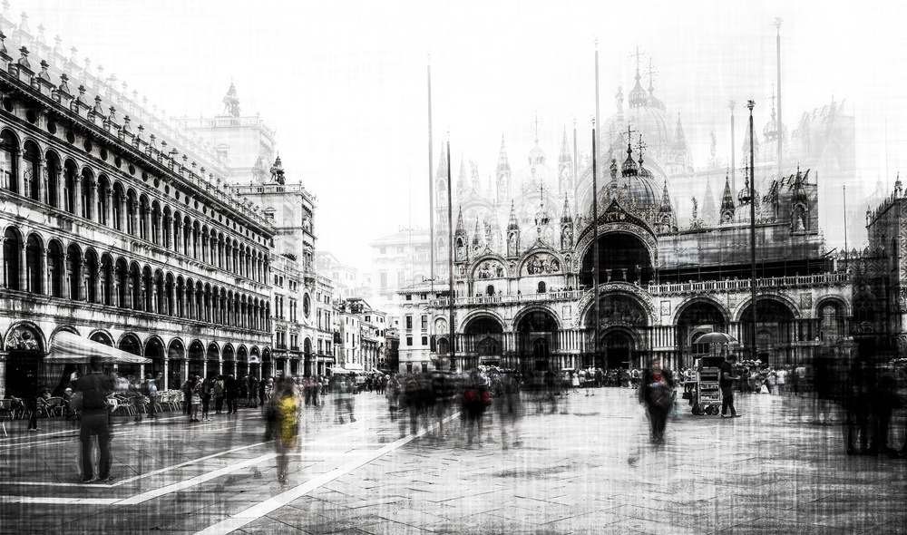 A piece of fine art art photography titled Piazza San Marco by Carmine Chiriaco