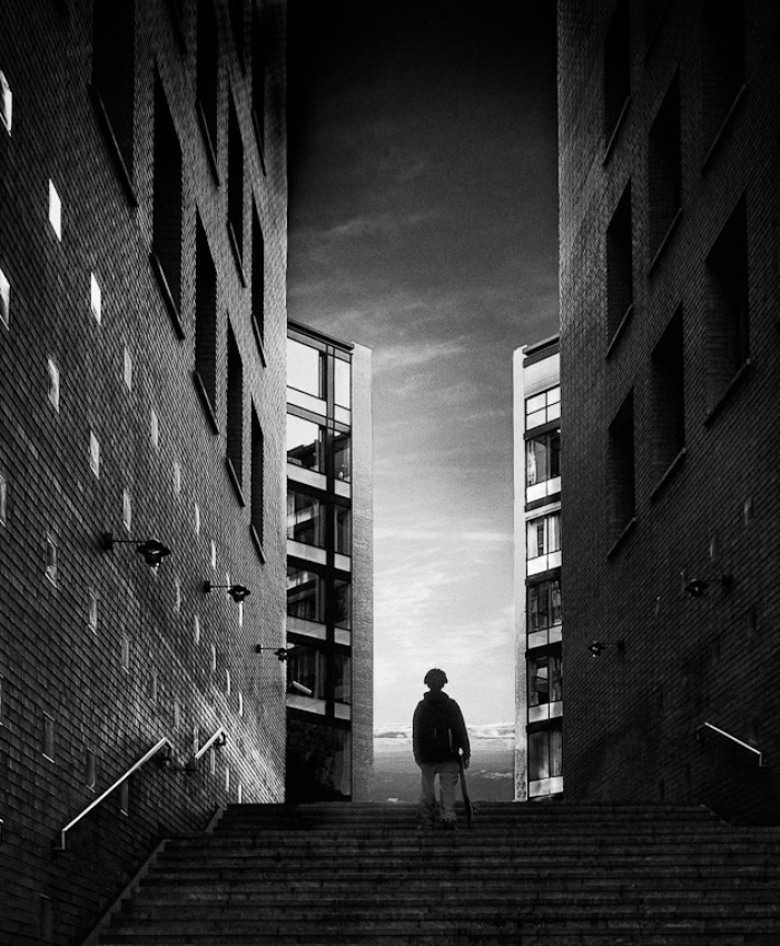 A piece of fine art art photography titled Skater by Bjorn Leirvik