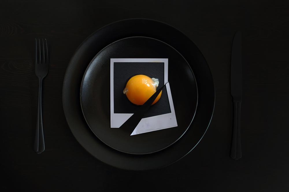 A piece of fine art art photography titled Photographer's Breakfast by Victoria Ivanova