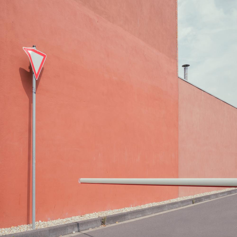 A piece of fine art art photography titled Car Park by Klaus Lenzen