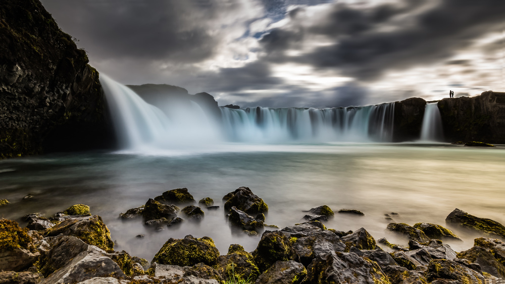 A piece of fine art art photography titled Iceland - at the Edge by Michael Jurek