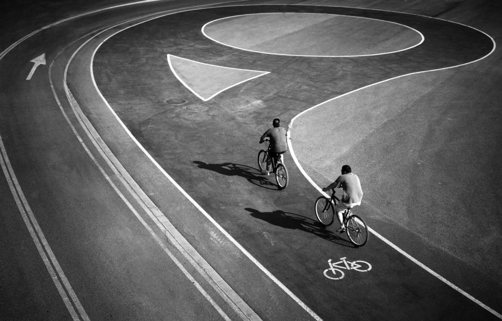 A piece of fine art art photography titled Cycling Tour by Marc Apers