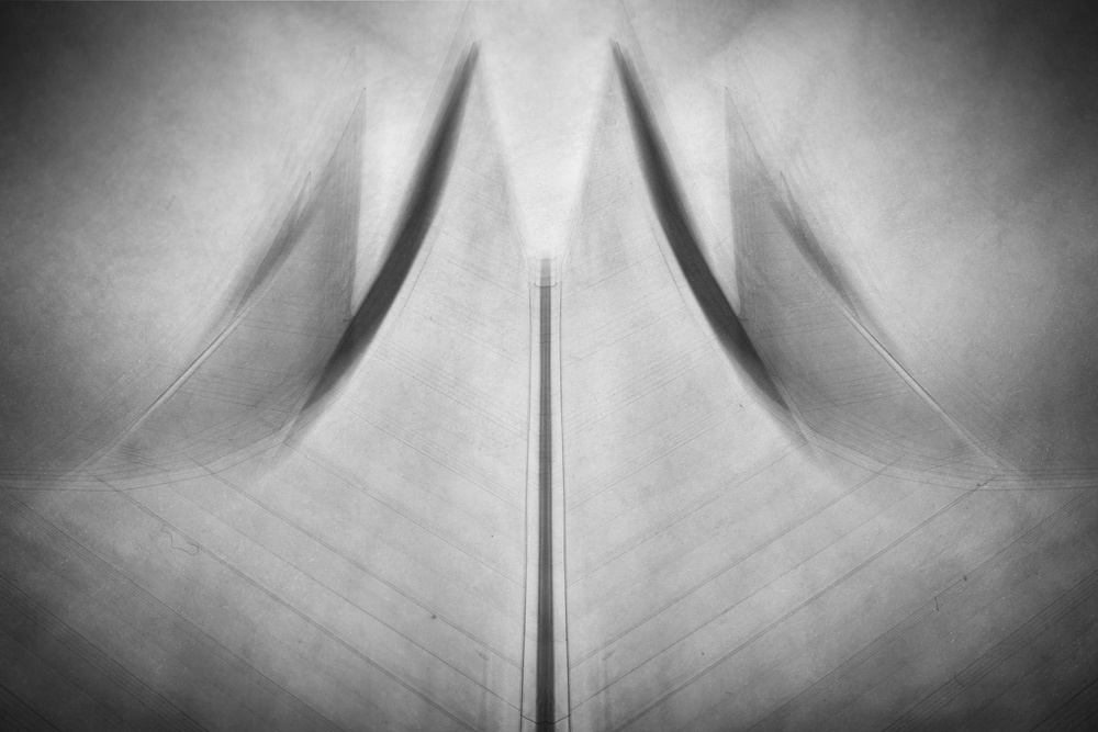 A piece of fine art art photography titled The Tent by Roswitha Schleicher-Schwarz