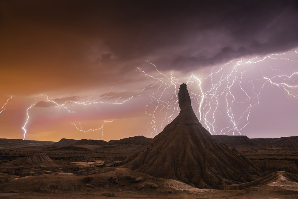 A piece of fine art art photography titled Bardenas Storm (with Music) by Martin Zalba