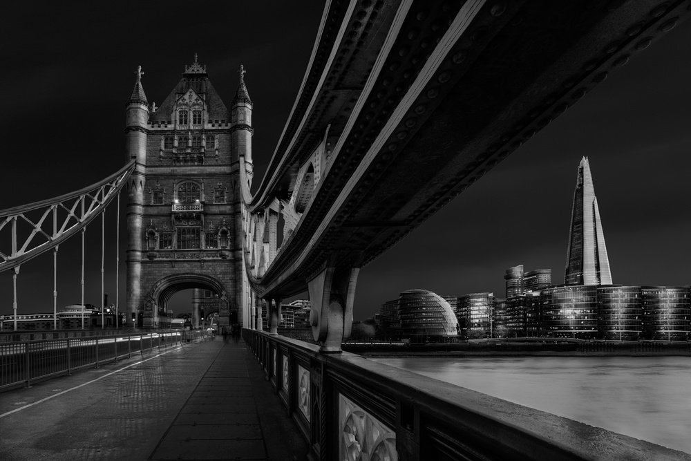 A piece of fine art art photography titled London Skyline by Nader El Assy