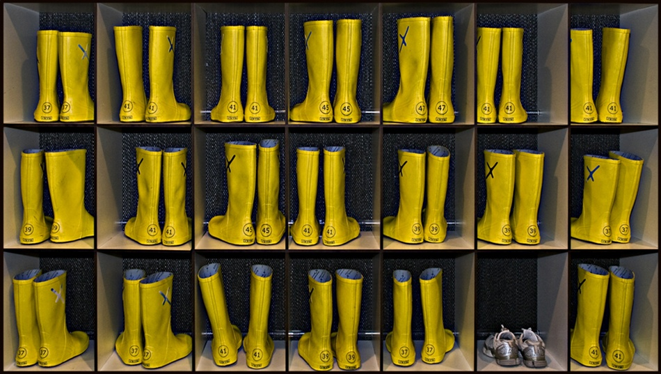 A piece of fine art art photography titled Yellow Wellies by Vidar Sandnes