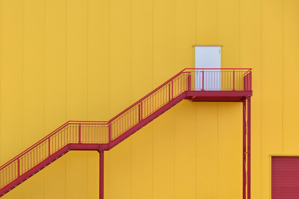 A piece of fine art art photography titled White Door by Peter Pfeiffer
